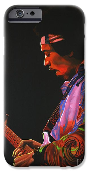 Little iPhone Cases - Jimi Hendrix 4 iPhone Case by Paul  Meijering