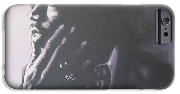 Johnny Allen Hendrix iPhone Cases - Jimi Hendrix iPhone Case by Bruce McLachlan