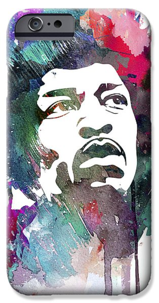 Jimi Hendrix iPhone Cases - Jimi Hendrix iPhone Case by Luke and Slavi