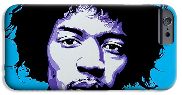Johnny Allen Hendrix iPhone Cases - Jimi Hendrix iPhone Case by Nancy Mergybrower