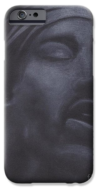 Crying Drawings iPhone Cases - Jimi Hendrix iPhone Case by Natalie Rogers