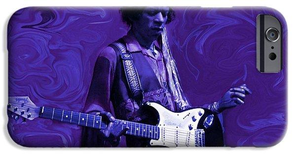David Mixed Media iPhone Cases - Jimi Hendrix Purple Haze iPhone Case by David Dehner