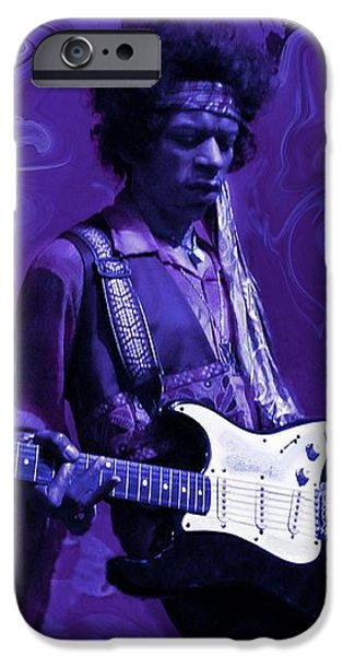 Jimi Hendrix Purple Haze iPhone Case by David Dehner