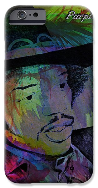 East Village iPhone Cases - Jimi Hendrix Purple Haze iPhone Case by Gary Keesler