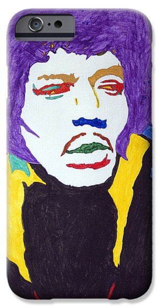 James Marshall Jimi Hendrix iPhone Cases - Jimi Hendrix Purple Haze  iPhone Case by Stormm Bradshaw