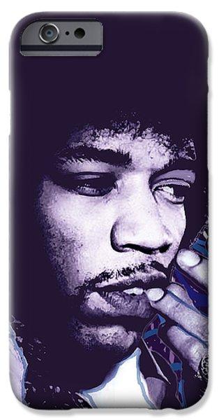 Jimi Hendrix Purple Haze  iPhone Case by Tony Rubino