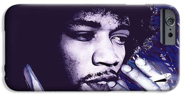 James Marshall Jimi Hendrix iPhone Cases - Jimi Hendrix Purple Haze  iPhone Case by Tony Rubino