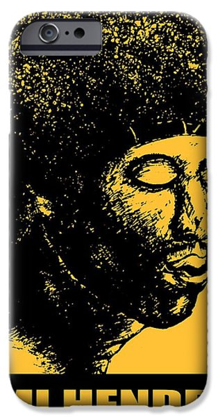 Best Buy Mixed Media iPhone Cases - Jimi Hendrix - Rock Music Poster iPhone Case by Peter Fine Art Gallery  - Paintings Photos Digital Art