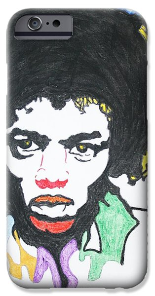 James Marshall Jimi Hendrix iPhone Cases - Jimi Hendrix iPhone Case by Stormm Bradshaw