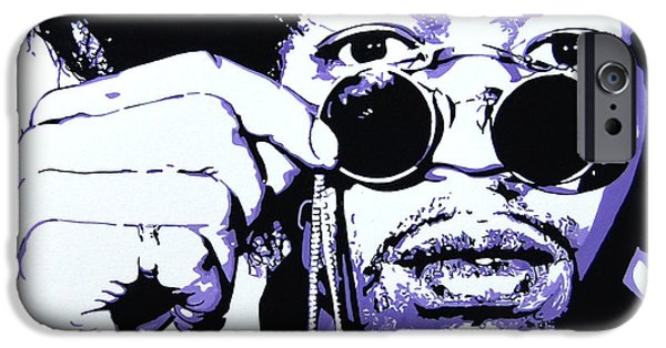 Johnny Allen Hendrix iPhone Cases - Jimi. iPhone Case by Nancy Mergybrower