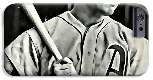 Boston Red Sox iPhone Cases - Jimmie Foxx iPhone Case by Florian Rodarte
