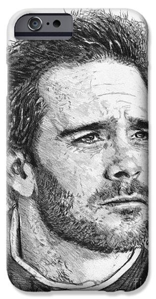 Artistic Portraiture iPhone Cases - Jimmie Johnson in 2012 iPhone Case by J McCombie
