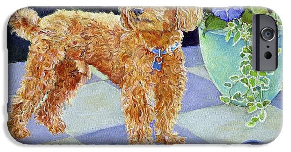 Doggie Art iPhone Cases - Jimmy Caruso iPhone Case by Kimberly McSparran