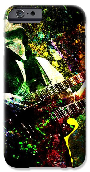 Jimmy Page - Led Zeppelin - Original Painting Print iPhone Case by Ryan RockChromatic