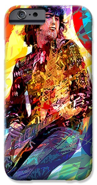 Jimmy Page iPhone Cases - JIMMY PAGE LEDs LEAD iPhone Case by David Lloyd Glover