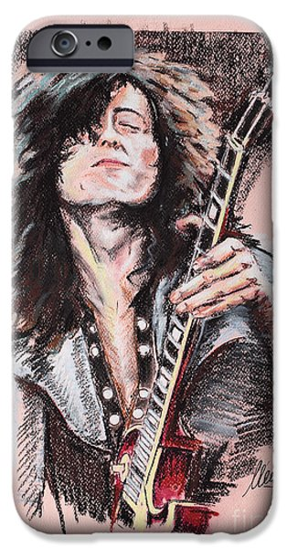 Led Zeppelin iPhone Cases - Jimmy Page iPhone Case by Melanie D