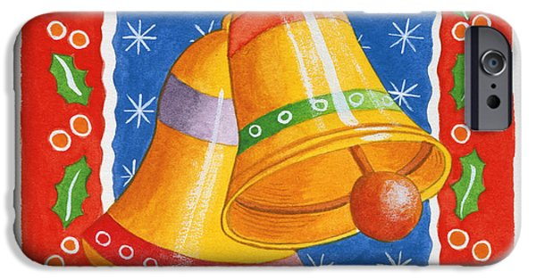 Bell iPhone Cases - Jingle Bells, 2005 Wc On Paper iPhone Case by Tony Todd