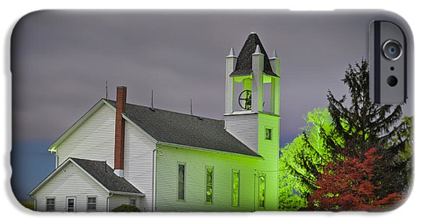 Daviess County Photographs iPhone Cases - Jo Daviess County Church iPhone Case by Tom Phelan