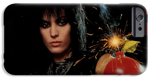 Eighties iPhone Cases - Joan Jett - Cherry Bomb 1984 iPhone Case by Epic Rights