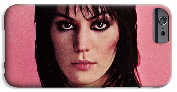 Punk Rock iPhone Cases - Joan Jett - Crimson and Clover 1982 - Back Cover iPhone Case by Epic Rights