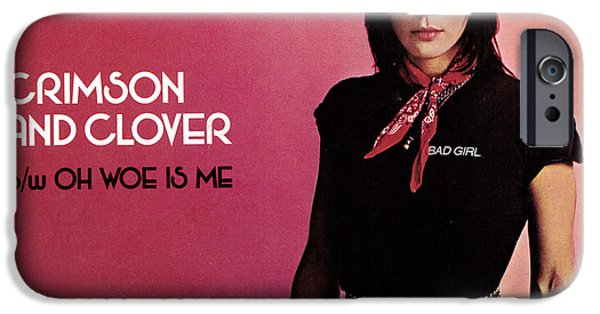 Punk Rock iPhone Cases - Joan Jett - Crimson and Clover 1982 iPhone Case by Epic Rights
