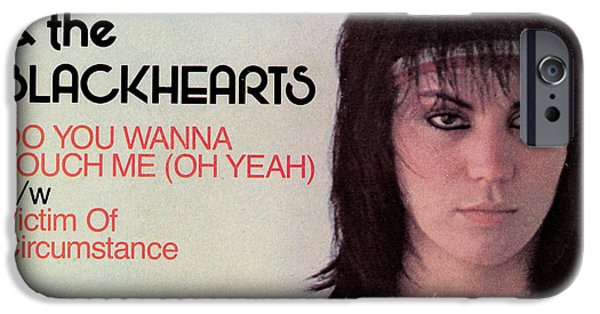 Eighties iPhone Cases - Joan Jett - Do You Wanna Touch Me 1982 iPhone Case by Epic Rights