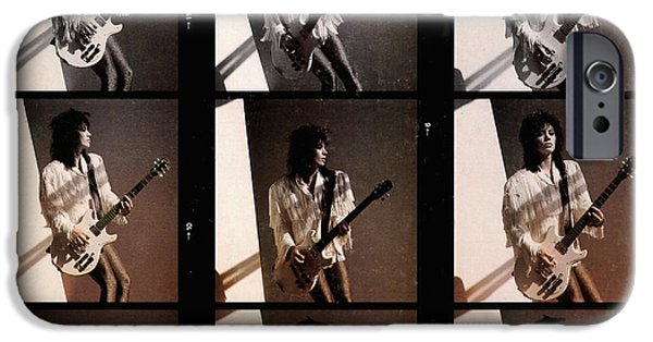 Eighties iPhone Cases - Joan Jett - Good Music 1986 iPhone Case by Epic Rights