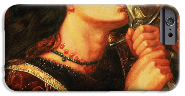 Weapon iPhone Cases - Joan Of Arc Kissing The Sword iPhone Case by Dante Gabriel Charles Rossetti