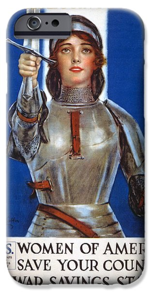 Savings iPhone Cases - Joan Of Arc Saved France iPhone Case by William Haskell Coffin