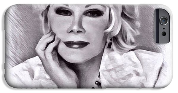 Digital Designs iPhone Cases - Joan Rivers iPhone Case by Scott Wallace