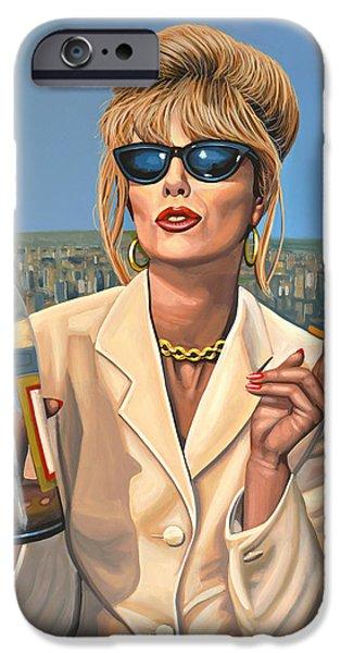 Joanna Lumley as Patsy Stone iPhone Case by Paul Meijering