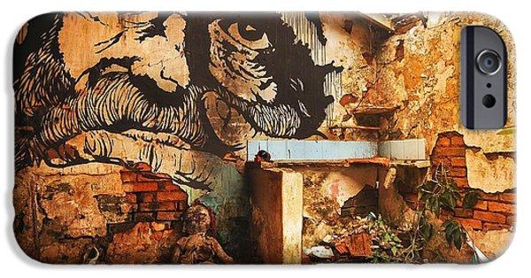 House Pyrography iPhone Cases - Joao-ninguem iPhone Case by Alfredo  Maffei