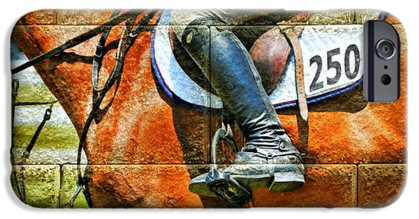 Horse Racing Photographs iPhone Cases - Jockey 250 iPhone Case by Diana Angstadt