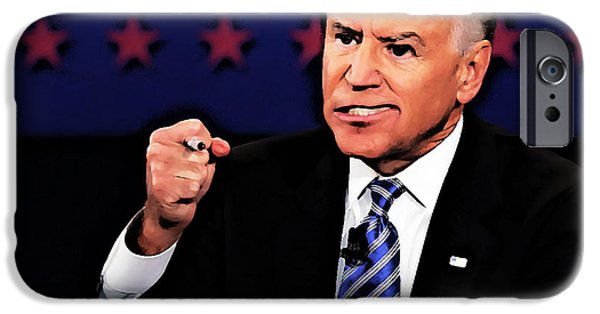 Vice President Biden iPhone Cases - Joe BidenCaricature iPhone Case by Anthony Caruso