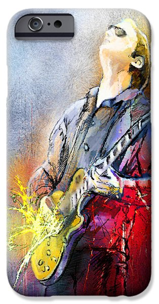 Joe Bonamassa 02 iPhone Case by Miki De Goodaboom