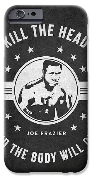 Heavyweight Digital Art iPhone Cases - Joe Frazier - Dark iPhone Case by Aged Pixel