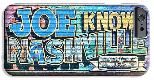 Inner World iPhone Cases - Joe Knows Nashville iPhone Case by Frozen in Time Fine Art Photography