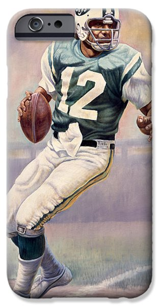 Quarterback iPhone Cases - Joe Namath iPhone Case by Gregory Perillo