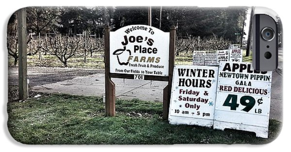 Farm Stand iPhone Cases - Joes Place Farms iPhone Case by Melissa Coffield