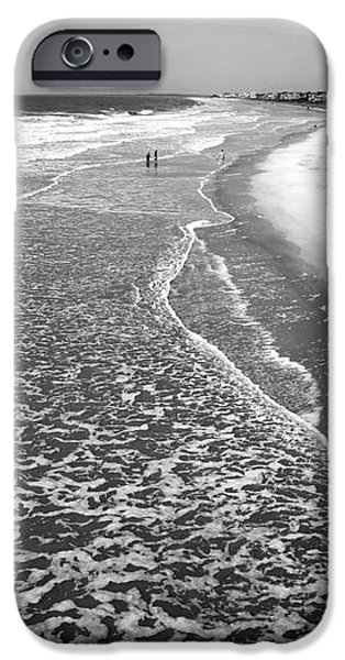 Jogging at Folly Beach iPhone Case by John Rizzuto