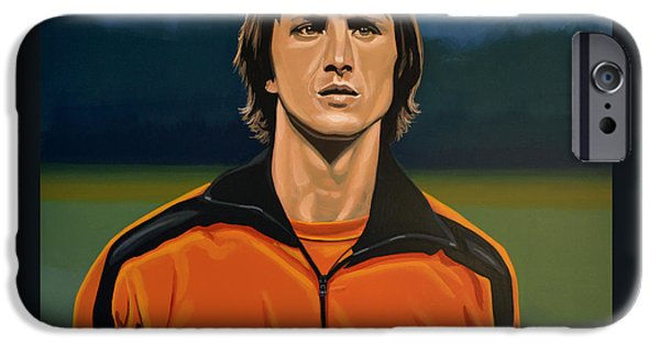 Concentration iPhone Cases - Johan Cruyff Oranje iPhone Case by Paul  Meijering