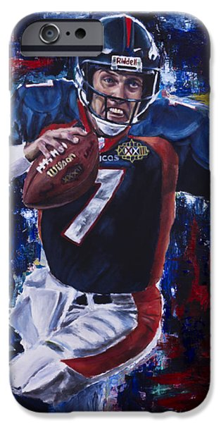 President iPhone Cases - John Elway iPhone Case by Mark Courage