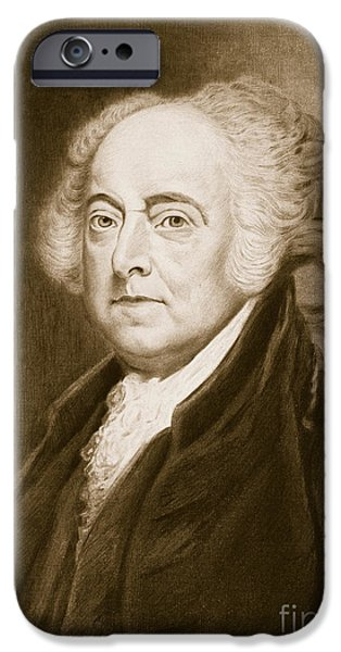 White House iPhone Cases - John Adams iPhone Case by George Healy