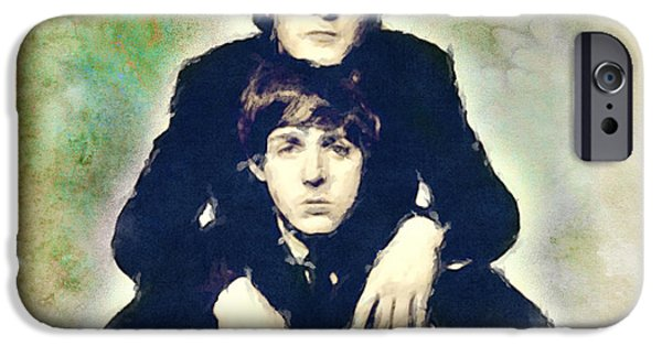 Recently Sold -  - Piano iPhone Cases - John and Paul iPhone Case by Paulette B Wright