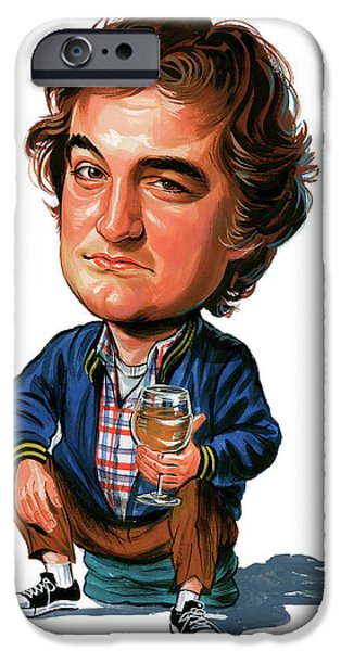 Comedian iPhone Cases - John Belushi iPhone Case by Art