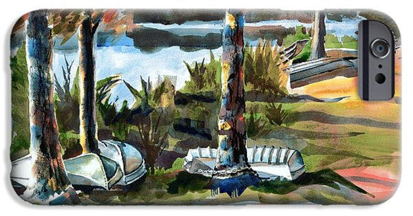 Canoe iPhone Cases - John Boats and Row Boats iPhone Case by Kip DeVore