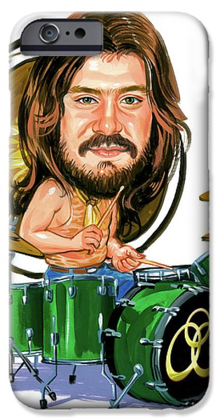 Art iPhone Cases - John Bonham iPhone Case by Art