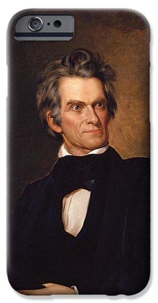 Politician iPhone Cases - John C Calhoun  iPhone Case by War Is Hell Store