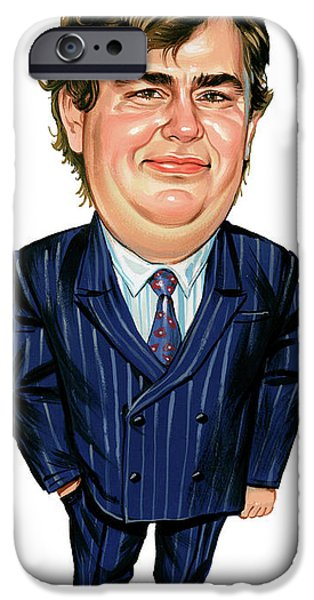 Canadian Paintings iPhone Cases - John Candy iPhone Case by Art