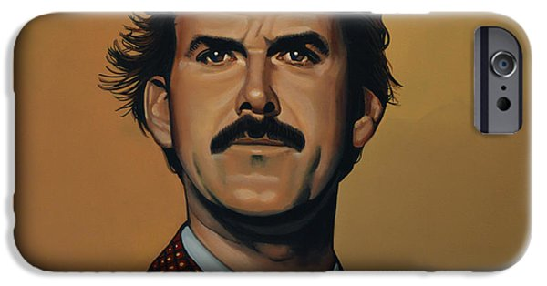 Comedian iPhone Cases - John Cleese iPhone Case by Paul  Meijering